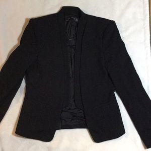 Zara women XS open front black blazer